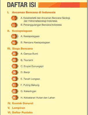 Daftar Isi Buku Saku Tanggap Tangkas Tamgguh Menghadapi Bencana - www.librarypendidikan.com