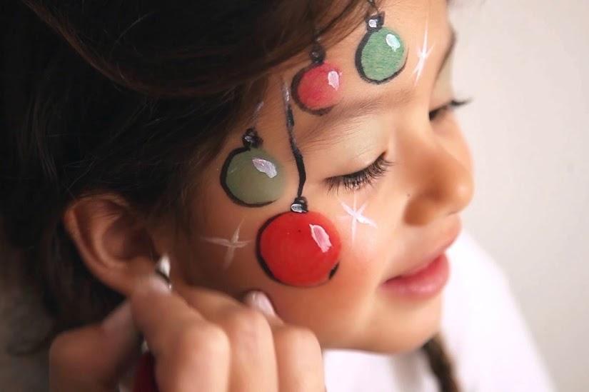 Maquillaje de bolas de Navidad