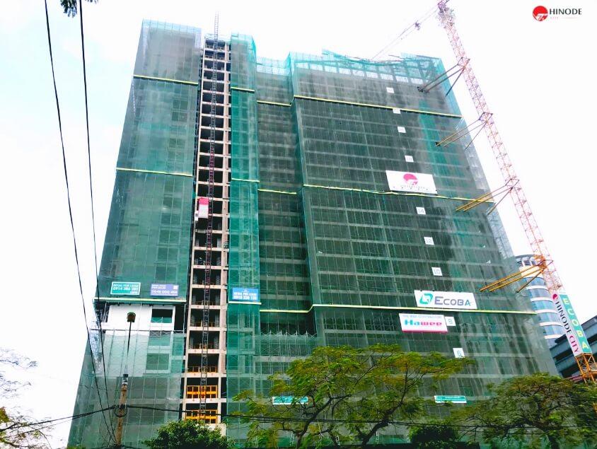Tiến độ xây dựng tháng 1 chung cư Hinode City Minh Khai