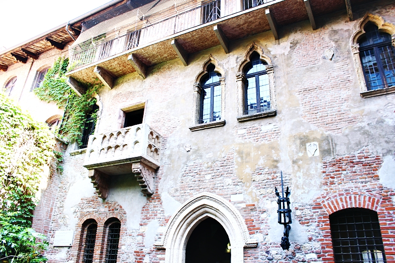 famous Juliet's balcony in Verona Italy