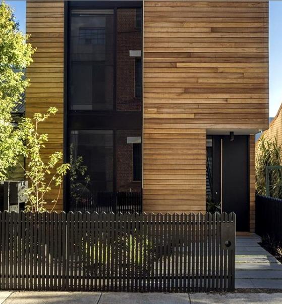 rumah minimalis dinding kayu