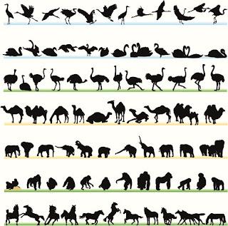 free animals silhouettes dxf - cnc world