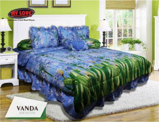 Sprei dan bed cover my love motif Vanda