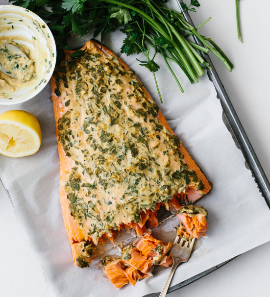 DIJON BAKED SALMON #dinner #yummy
