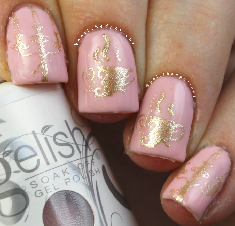 Polished Patient Nail Art Beauty And The Beast Gelish Collection