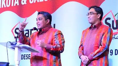 Pasangan Nadjmi-Jaya saat mengikuti Debat Pilkada 2015