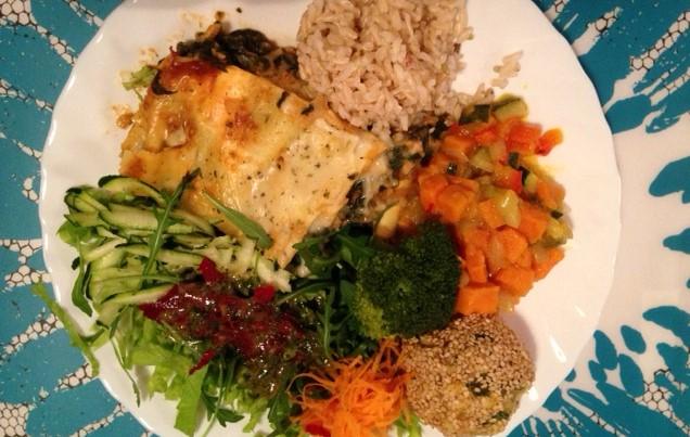 prato de refeição vegetariana