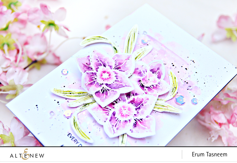 Altenew Build-A-Flower: Daffodil Watercoloured with Altenew 36 Pan Watercolours | Erum Tasneem |@pr0digy0