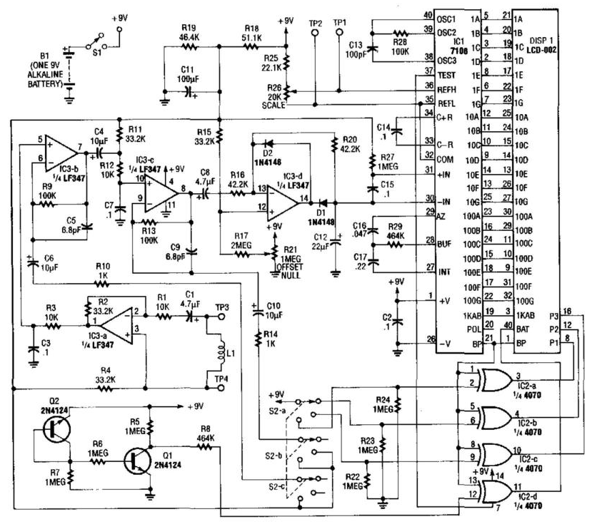 circuit diagram and electronic circuits projects  detectors