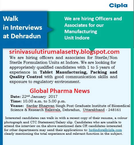 Global Pharma News: January 2017