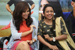Actress Suma in Black Salwar Suit and Anusuya in orange Dress at winner movie press meet part 2 February 2017 (67).JPG