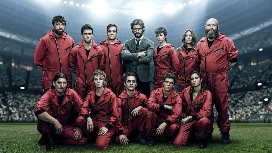 Money Heist, Netflix, Series, Cast, Characters, 4K, #6.1122