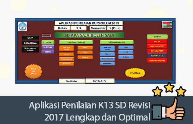 Aplikasi Penilaian K13 SD Revisi 2017