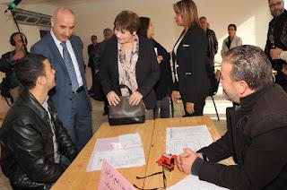 وزيرة التربية الوطنية تتفقد مراكز استقبال ملفات المترشحين