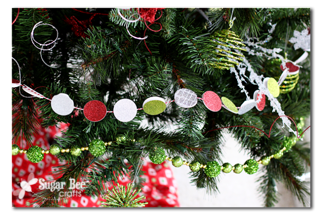 DIY Holiday Circle Garland Idea by Mandy Beyeler
