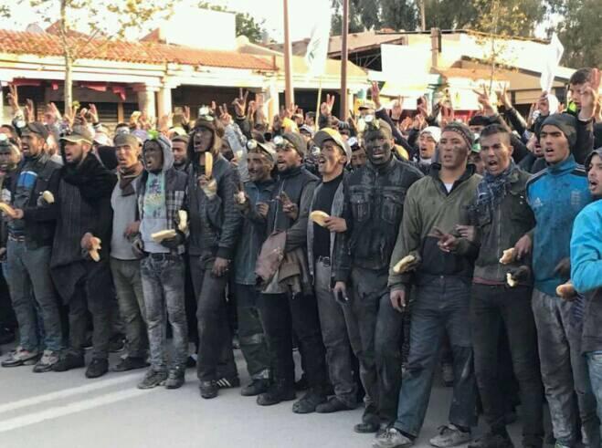 سكان جرادة يستقبلون الرباح وبنخضرا بشعارات قوية