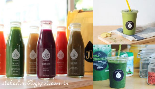 Sağlıklı mekan önerisi: Soğuk preslenmiş sebze ve meyve suyu için; JÜS