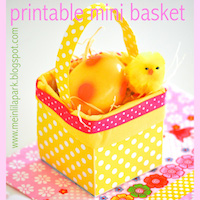 free printable mini basket