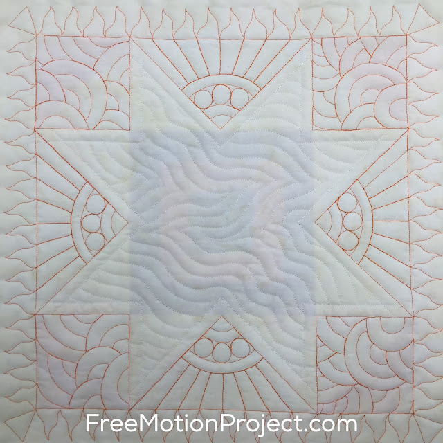 Learn how to quilt this beautiful sampler quilt block in a free video tutorial with Leah Day