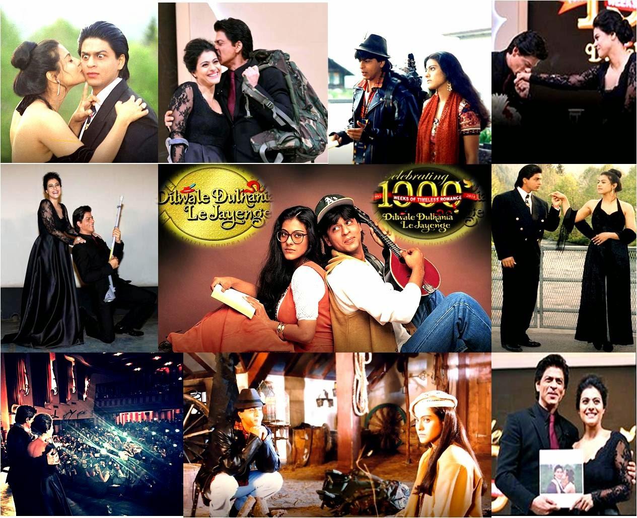 Romantic jodi Shahrukh Khan and Kajol showing sizzling chemistry in Dilwale Dulhania Le Jayenge 1000 weeks and 20 years celebration event