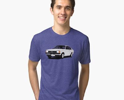 Opel Kadett C  Coupe t-paita valkoinen