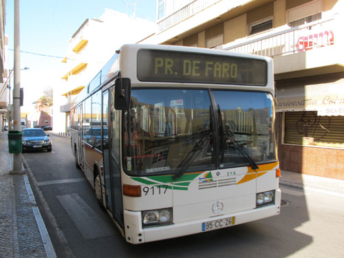 Buses in the Algarve from Faro