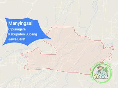 PETA :  Desa Manyingsal, Kecamatan Cipunagara