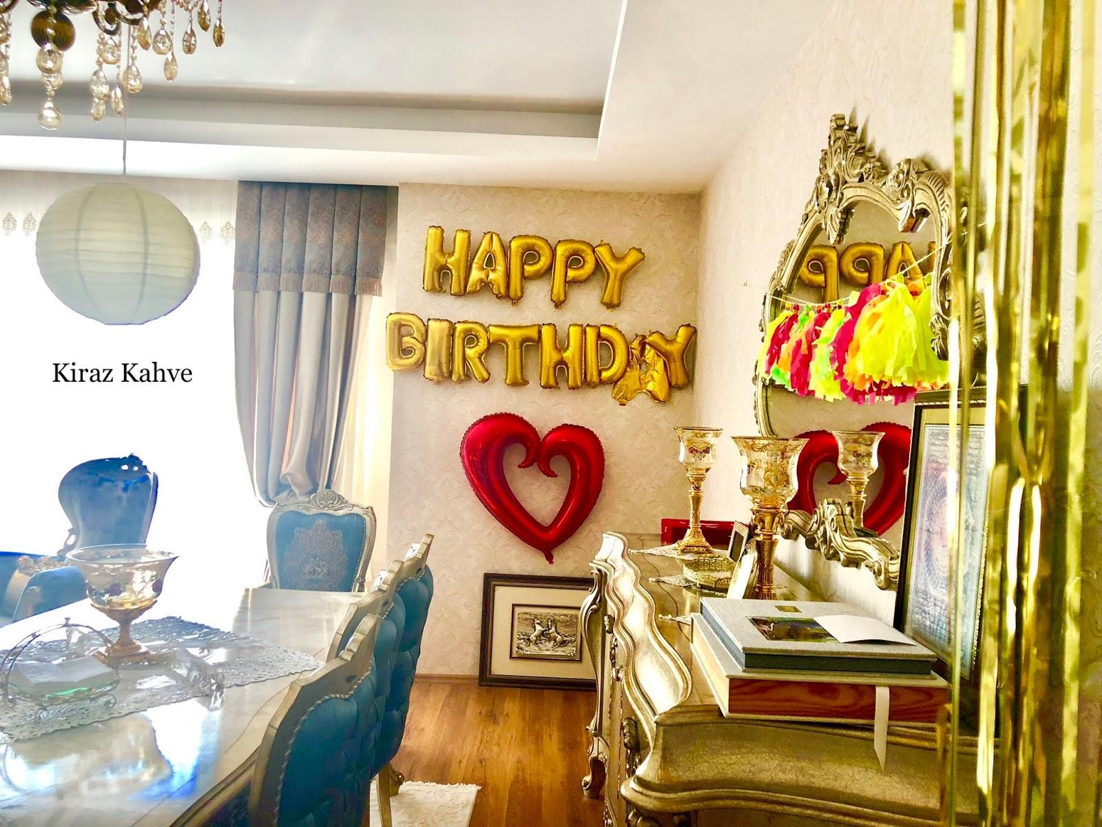 Doğum Günü Partisi süslemeleri