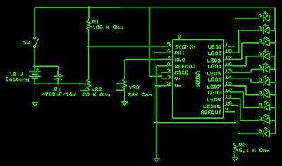 LM3914 battery level indicator