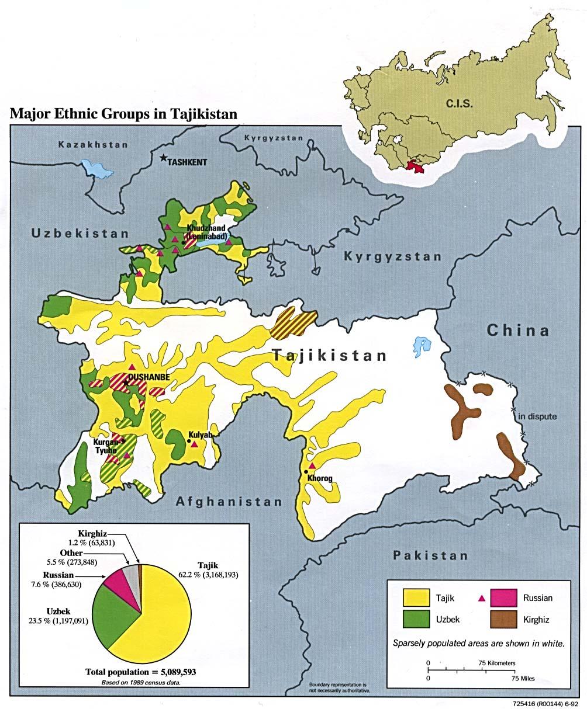 Mapas Geográficos do Tadjiquistão