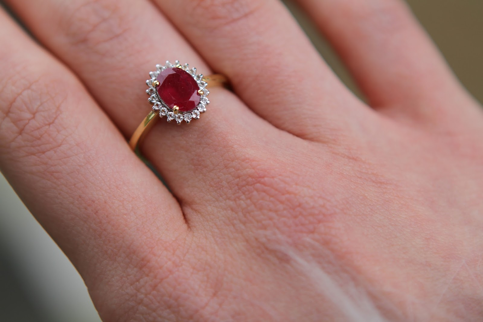 Gemporia thai ruby and white topaz