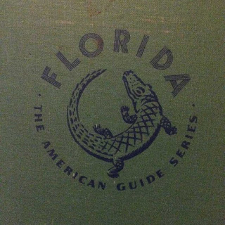 Closeup of title and graphic image from cover of WPA Guide to Florida