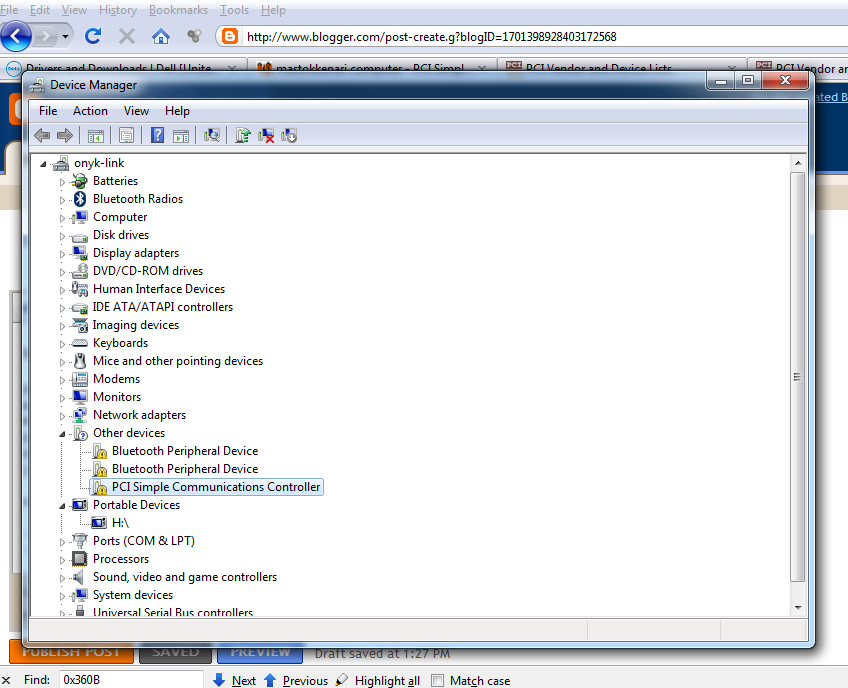 hp pci serial port driver windows 7 32 bit