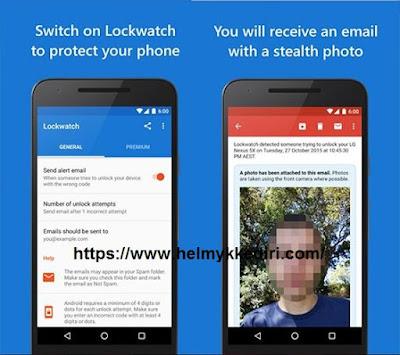 Aplikasi keamanan yang memfoto malingnya