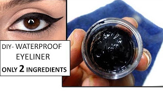 HOW TO MAKE WATERPROOF EYELINER AT HOME