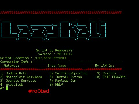 SSTec Tutorials: How To Install Lazykali and Hackpack Scripts on