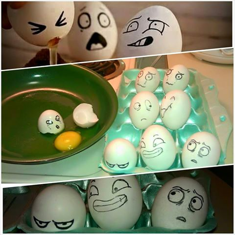 drawing on eggs