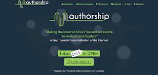 عرضBounty ربح 10$ من عملة Authorship مجانا (أخر اجل 14/9/2017)