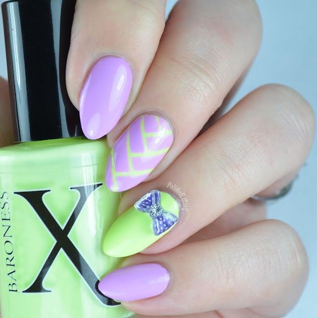 Soft neon nail art