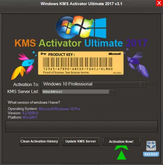 KMS Activator Ultimate 2017 – Active Win 10 vĩnh viễn mới nhất