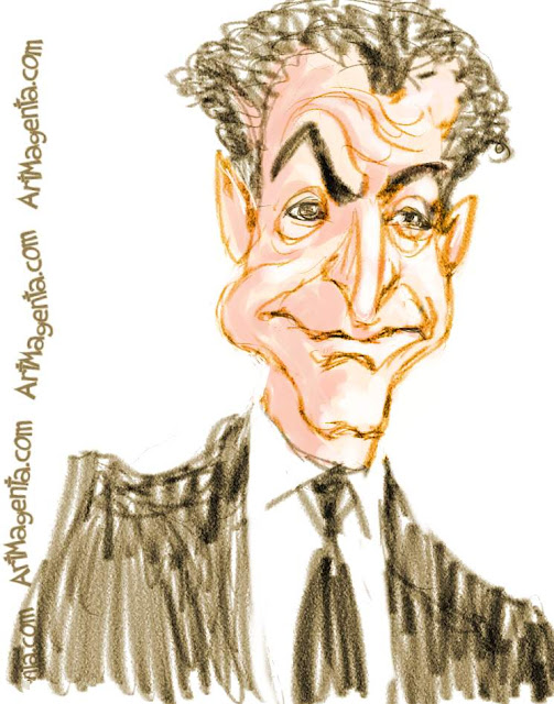 Nicolas Sarkozy caricature by Artmagenta