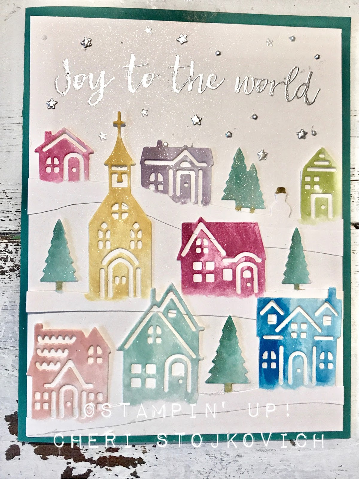 Cheris Cards Hearts Come Home Shimmery Lovely Christmas Card
