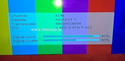 Star Utsav Movies Test Feed added on Asiasat7 Satellite