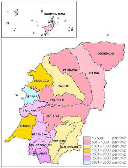 Gambar Peta Kecamatan Kabupaten Jepara