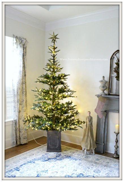 French Country Farmhouse Christmas Bedroom-Grandin Road- Christmas Tree-From My Front Porch To Yours