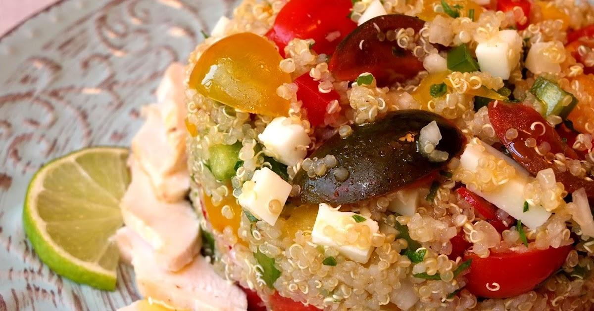 Cocinando con lola garc a ensalada de quinoa con pollo for Cocinar quinoa con pollo