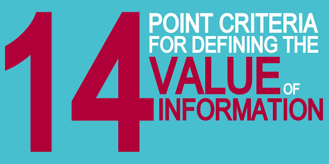 14 Point Criteria for Defining The Value of Information (VoI)