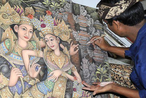 Batuan Bali Art Paintings - Besakih Temple Trip