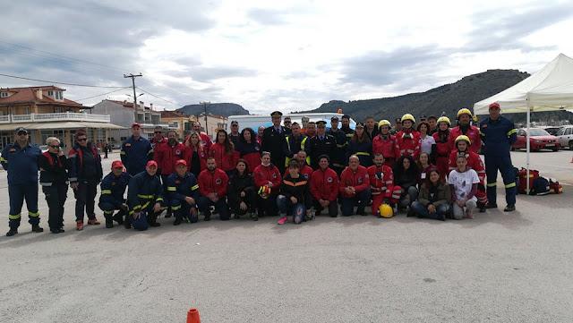 """Η Ελληνική Ομάδα Διάσωσης Αργολίδας με 16 διασώστες συμμετείχε στην άσκηση """"ΣΕΙΣΙΧΘΩΝ 2019"""" στο Ναύπλιο"""