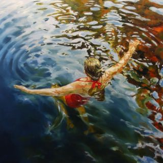 Картины женских фигур в воде. Vicki Smith